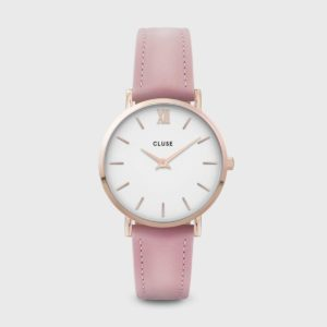 Minuit Leather Rose Gold White/Pink CW0101203006
