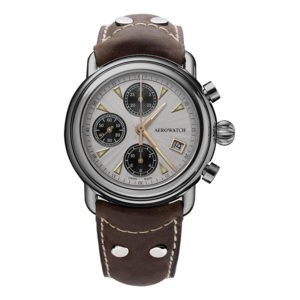 Montre Aerowatch 1942 Chrono Auto, Optique jeanmonod, Vallorbe, Suisse
