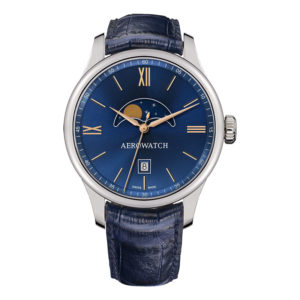 Montre Aerowatch Moon Phase Quartz, Optique jeanmonod, Vallorbe, Suisse